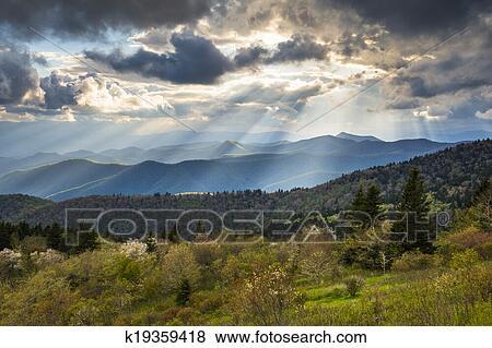Blue Ridge Parkway Landscape North Carolina Appalachian
