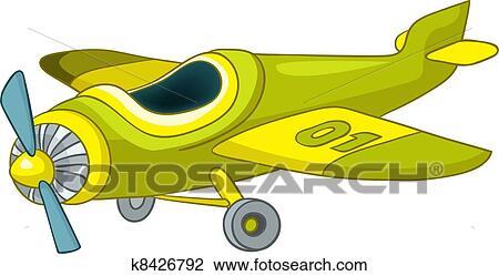 Cartone animato aeroplano clipart k8426792 fotosearch