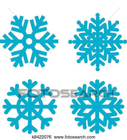 Clipart flocons neige k8422076 recherchez des cliparts - Dessins flocons de neige ...
