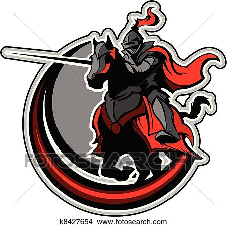 Mustang horse fierce mascot logo design Royalty Free Vector