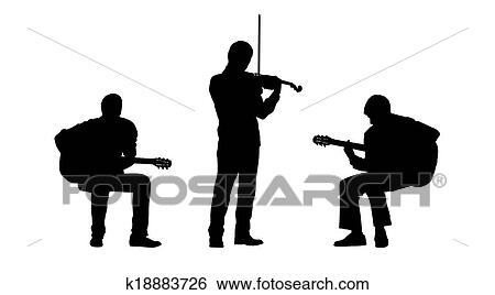 stock illustration of musicians silhouettes set 2 k18883726 search
