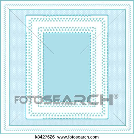 Clip Art - ojete, encaje, marco, pastel, agua k8427626 - Buscar Clip ...