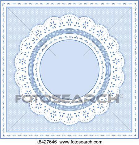 Clip Art - ojete, encaje, marco, pastel, azul k8427646 - Buscar Clip ...