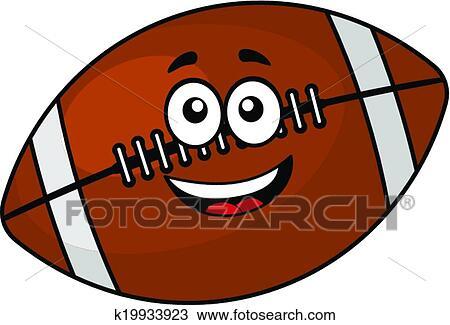 楽しみ 幸せ フットボール あるいは ラグビーボール クリップ