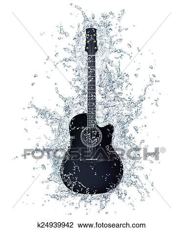 Acoustic Guitar Drawing K24939942 Fotosearch