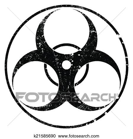 clipart of biohazard grunge symbol k21585690 search clip art rh fotosearch com grunge clipart png grunge border clipart