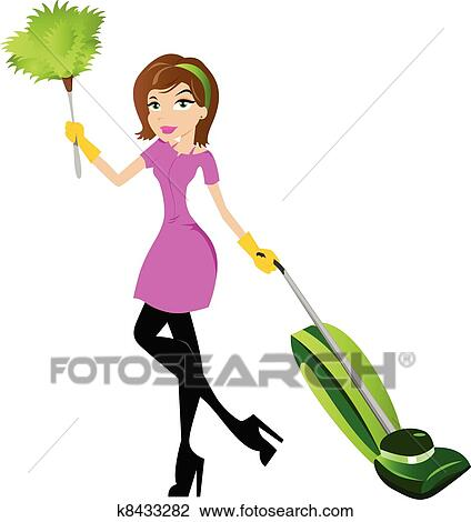 clipart of cleaning lady character k8433282 search clip art rh fotosearch com cleaning lady clip art free crazy cleaning lady clipart