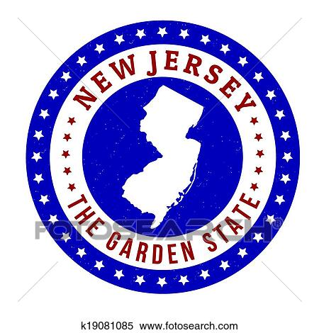 Clipart Of New Jersey Stamp K19081085