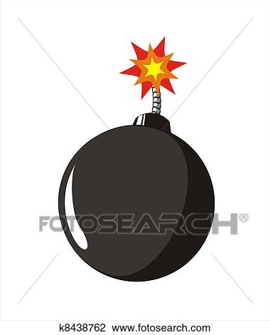Clipart Bombe clip art of old style bomb k8438762 - search clipart, illustration