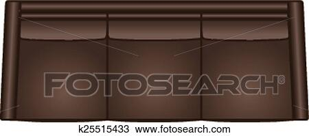 Sofa Top View Clipart K25515433 Fotosearch