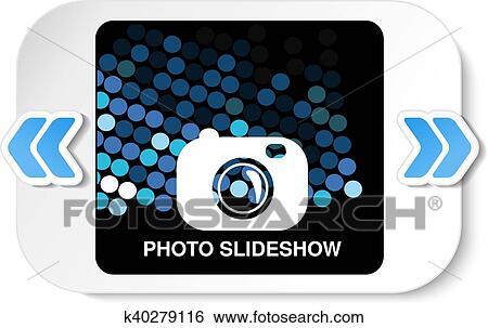 Clip Art - vector, marco, para, sitio web, slideshow, presentación ...