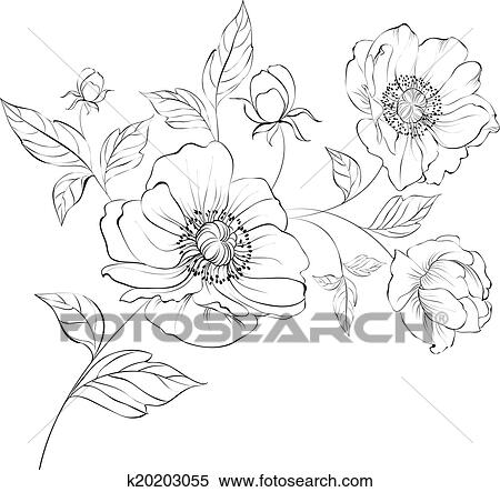 Klipart Vlci Mak Flower K20203055 Hledat Klipart Dekorace Na