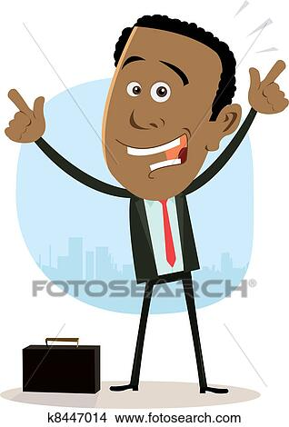 clipart of cool happy african businessman k8447014 search clip art rh fotosearch com sad businessman clipart businessman clipart cartoon
