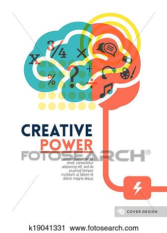 Clipart Of Creative Brain Idea Concept Background Design Layout For