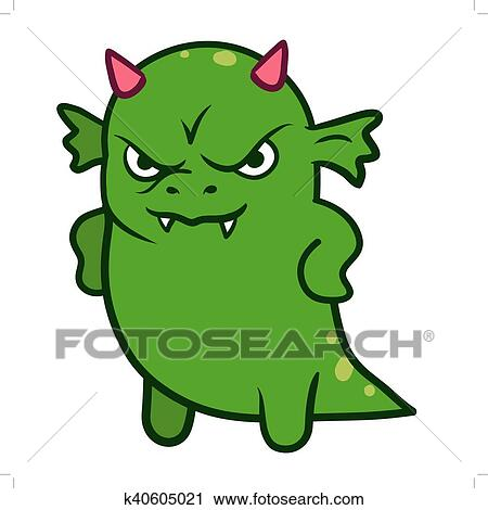 clipart of cute angry dragon monster k40605021 search clip art