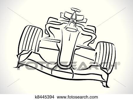 clipart of formula 1 racing car vector k8445394 search clip art