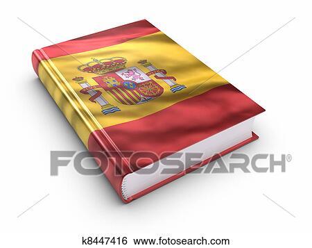Livre Couvert A Drapeau Espagnol Banque De Photographies