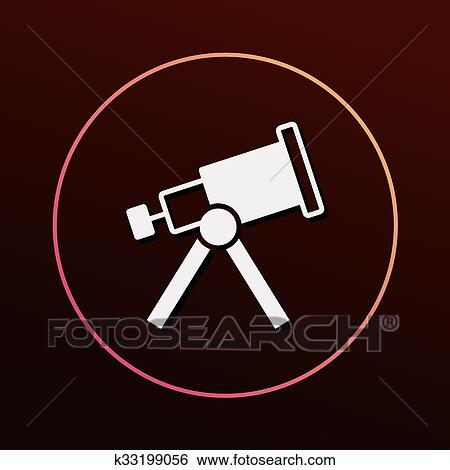 space telescope icon clip art k33199056 fotosearch fotosearch