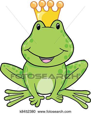 clipart of frog prince vector illustration k8452380 search clip rh fotosearch com frog prince clip art black and white frog prince clip art black and white