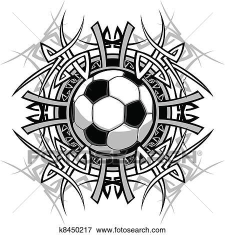 Fussball Stammes Grafik Bild Clip Art K8450217