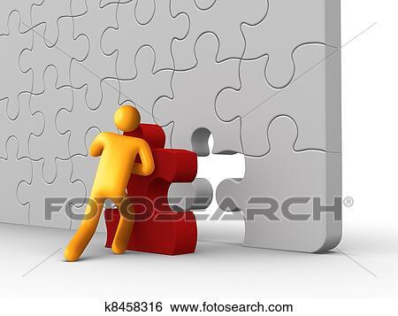 Archivio illustrazioni pezzo mancante k8458316 cerca - Collegamento stampabile un puzzle pix ...