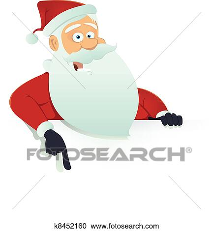 clipart of santa claus blank sign k8452160 search clip art
