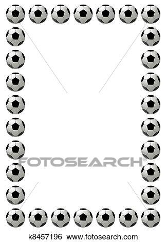 Stock Illustration of Soccer ball or football frame k8457196 ...