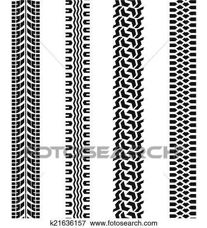 clip art of tire tracks vector k21636157 search clipart rh fotosearch com tractor tire tracks clipart bike tire tracks clipart