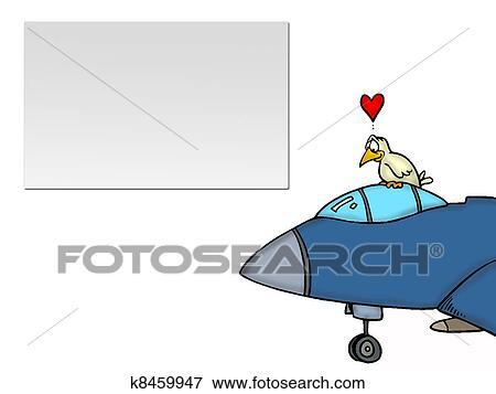 Uccello amore aeroplano archivio illustrazioni k8459947 fotosearch