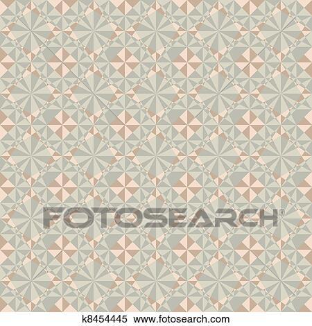Klipart Vector Seamless Pastel Boya Geometrik Desen K8454445