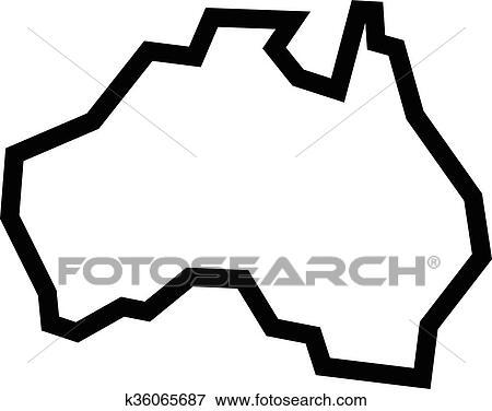 Australia Map Shape.Australia Map Geography Shape Clip Art K36065687 Fotosearch