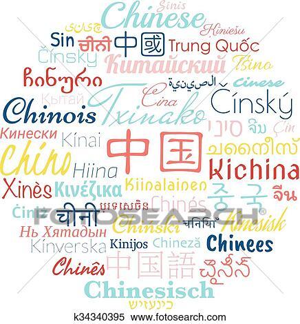 Clipart - chinesischer, foreigns, sprachen k34340395 - Suche Clip ...
