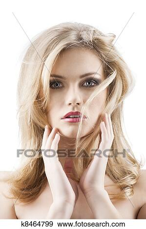 Stock Photograph Of Classic Beauty Portrait Of Young Sexy Girl With