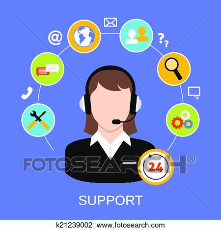 clipart of customer support service k21239002 search clip art rh fotosearch com customer clipart png customer service clipart free