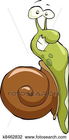 Dessin anim escargot clipart k8462832 - Clipart escargot ...