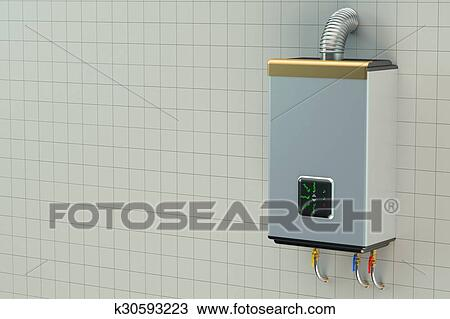 Drawing of Home gas boiler, water heater k30593223 - Search Clipart ...