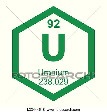 Clip Art Of Periodic Table Element Uranium K33444618 Search