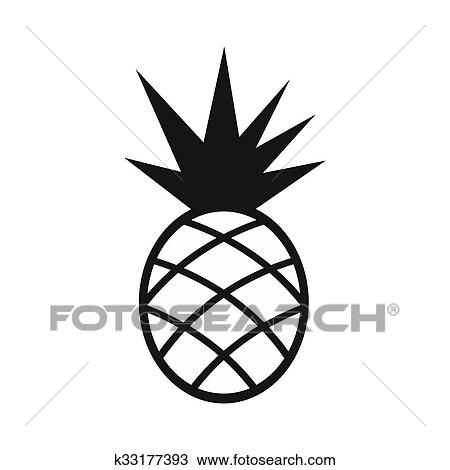 Ananas Simple Icône Dessin