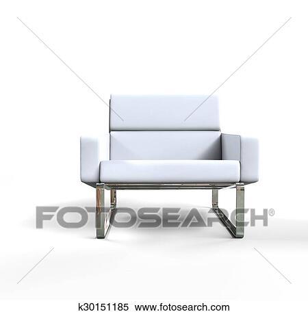 Banque d Illustrations blanc moderne fauteuil k