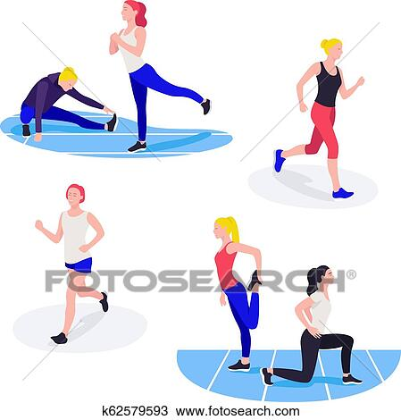 Fit Women Exercising Young Females Athletes Doing Fitness Workout Clipart K62579593 Fotosearch Crossposts are welcome as long as they follow the rules of this subreddit. fit women exercising young females