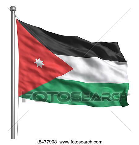 stock illustration of flag of jordan k8477908 search eps clip art