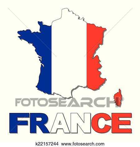 clipart of france map flag and text k22157244 search clip art rh fotosearch com france clipart png french clip art