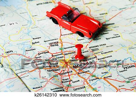 Stock Photography of Moscow , Russia map car k26142310 - Search ...