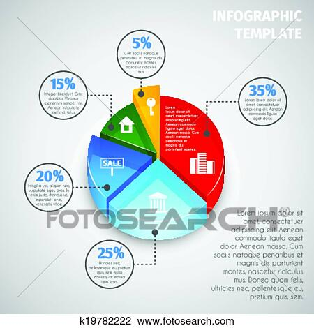 clipart of pie chart real estate infographic k19782222 search clip