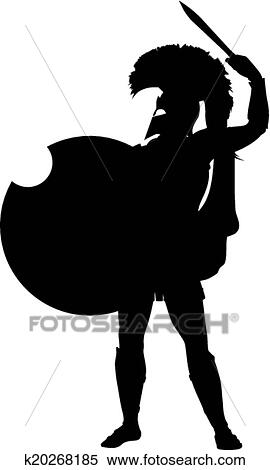 clipart of spartan warriors theme k20268185 search clip art rh fotosearch com spartan shield clipart spartan clipart free