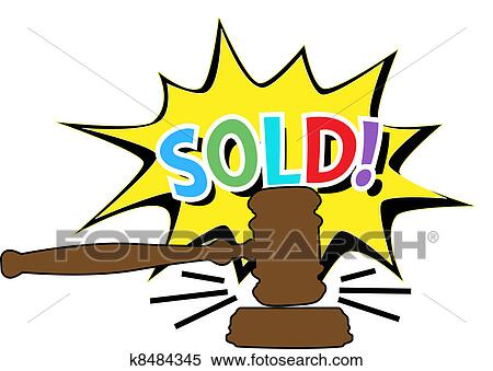 clipart of auction gavel sold cartoon icon k8484345 search clip rh fotosearch com silent auction clip art chinese auction clip art