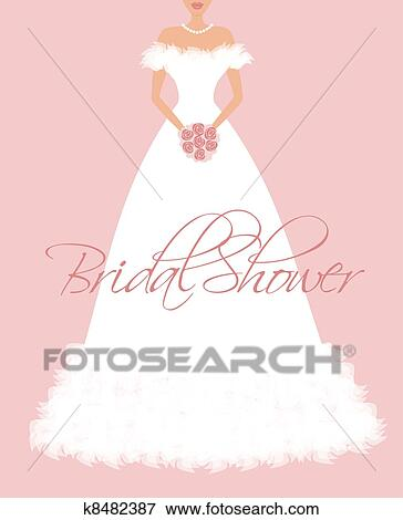 clip art bridal shower invitation fotosearch search clipart illustration posters drawings