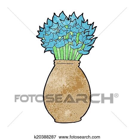 Clip Art Of Cartoon Vase Of Flowers K20388287 Search Clipart