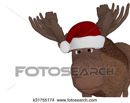 cute happy christmas moose - Christmas Moose