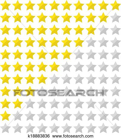 Clip Art of Flat star rating k18883836 - Search Clipart ...